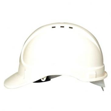 DELUXE VENTED SAFETY HELMET WHITE
